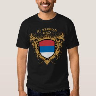 Papa serbe du numéro un t-shirts