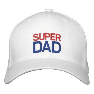 Papa superbe - casquette blanc et bleu rouge