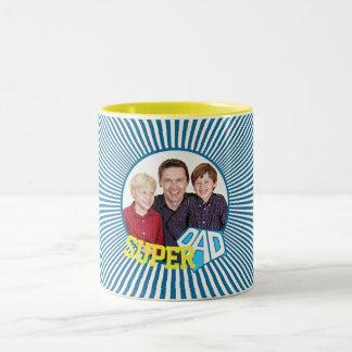 Papa superbe de photo faite sur commande comique tasse 2 couleurs
