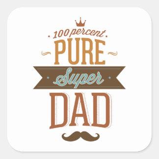 Papa superbe pur de 100 pour cent sticker carré