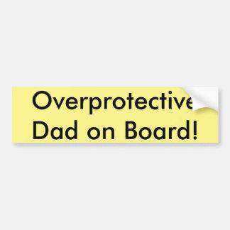 Papa surprotecteur à bord ! autocollant de voiture