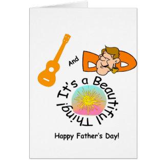 Papas et Ukes : C'est une belle chose ! Carte De Vœux