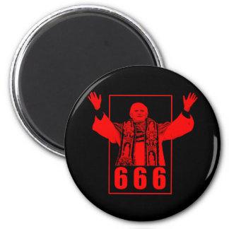 Pape 666 magnet rond 8 cm