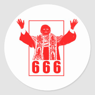 Pape 666 sticker rond
