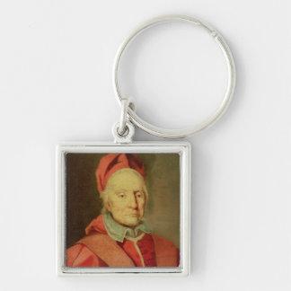 Pape Clement XI Porte-clé Carré Argenté