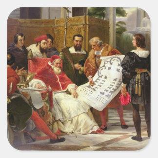 Pape Jules II Bramante de commande Autocollants Carrés
