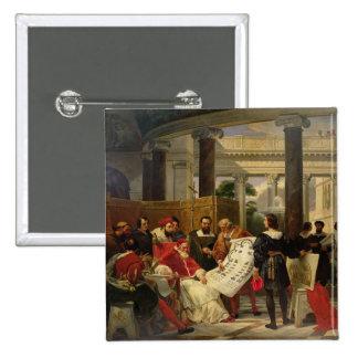 Pape Jules II Bramante de commande Badge Carré 5 Cm