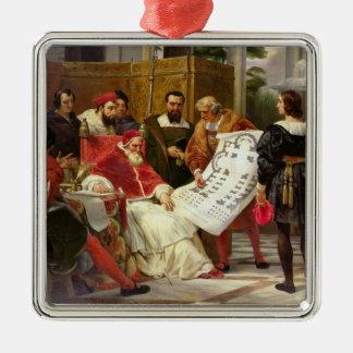 Pape Jules II Bramante de commande Ornement Carré Argenté