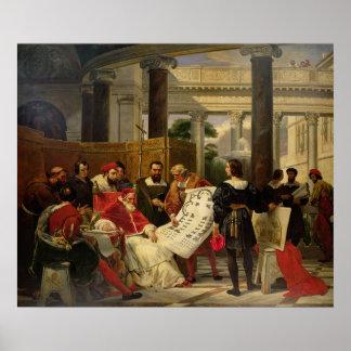 Pape Jules II Bramante de commande Affiche