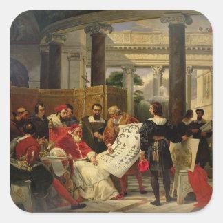 Pape Jules II Bramante de commande Sticker Carré