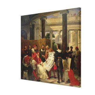 Pape Jules II Bramante de commande Toile Tendue Sur Châssis