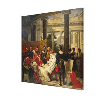 Pape Jules II Bramante de commande Toile Tendue