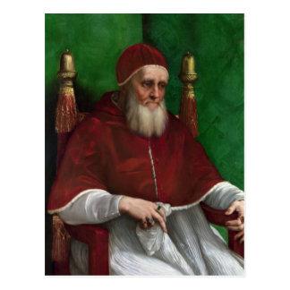 Pape Jules II par la carte postale de Raphael