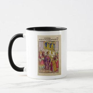 Pape Martin V donne à Sigismund le cadeau Mug