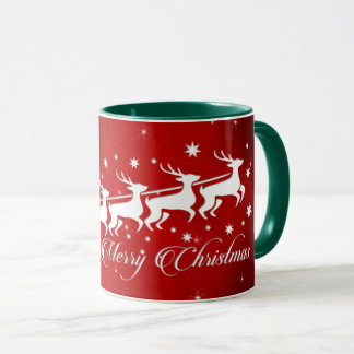 Pape Noel en traîneau (vert) Mugs