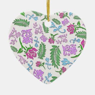 Papercut floral ornement cœur en céramique