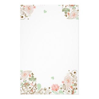 Papeterie #1-3S floral abstrait mignon