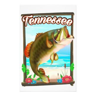 Papeterie Affiche de pêche du Tennessee