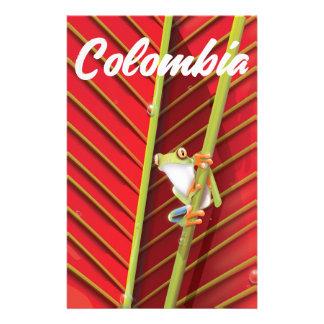 Papeterie Affiche de voyage de grenouille d'arbre de la