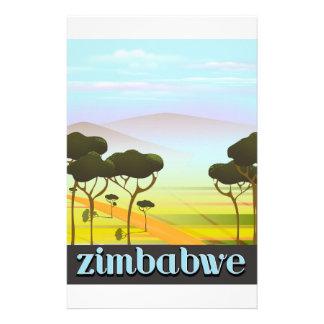 Papeterie Affiche de voyage de paysage du Zimbabwe