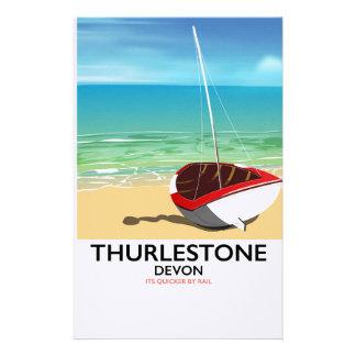 Papeterie Affiche du sud de voyage de Thurlestone Devon