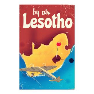 Papeterie Affiche vintage de vol de voyage du Lesotho