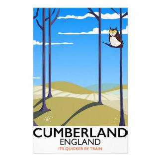 Papeterie Affiche vintage de voyage de style de Cumberland,