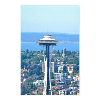Papeterie Aiguille de l'espace d'horizon de Seattle