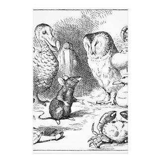 Papeterie Alice, souris et oiseaux