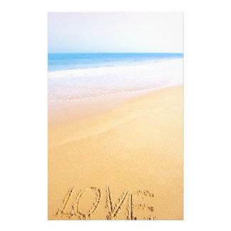 Papeterie Amour sur le sable, photo