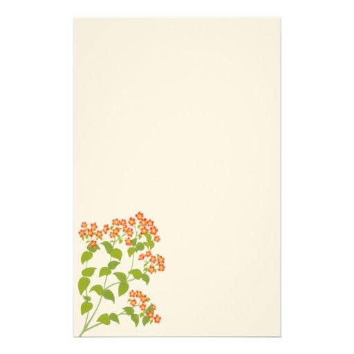 Papeterie anglaise rouge de fleurs sauvages zazzle for Papeterie bureau plus
