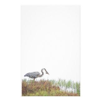 Papeterie Animaux de faune d'oiseaux de héron de grand bleu