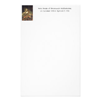 Papeterie Anna Amalia de Brunswick-Wolfenbuttel 1739