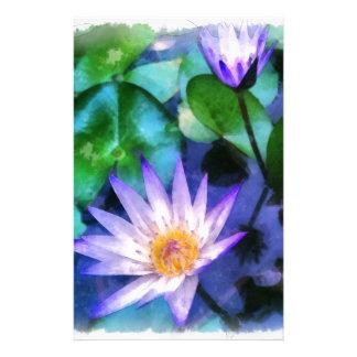 Papeterie Aquarelle pourpre de Lotus