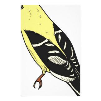 Papeterie Art américain d'oiseau de chardonneret