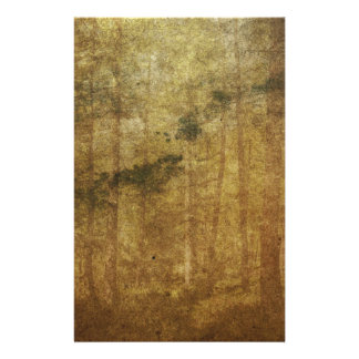 Papeterie Art brun vintage usé affligé de forêt