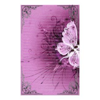 Papeterie Art merveilleux de pixel de papillons