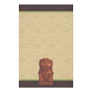 Papeterie Art orange de pixel de chien de lion