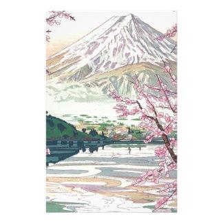 Papeterie Art oriental frais de cerisier de ressort de Fuji