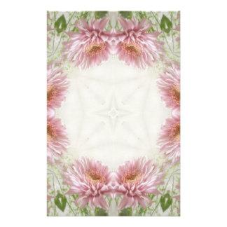 Papeterie Art rose 9 de kaléidoscope de chrysanthèmes