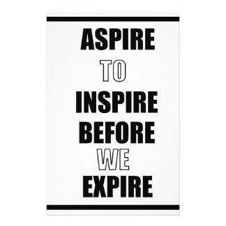 PAPETERIE ASPIREZ POUR INSPIRER AVANT QUE NOUS EXPIRIONS