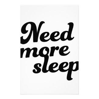 Papeterie Ayez besoin de plus de sommeil !