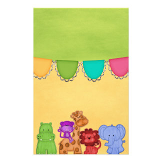 Papeterie Baby shower doux de safari d'animaux de jungle de