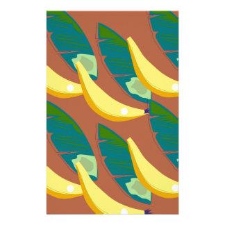 Papeterie Bananes de conception exotiques sur le chocolat