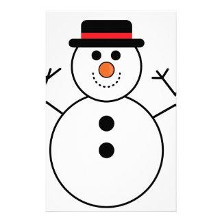 Papeterie Bande dessinée de bonhomme de neige
