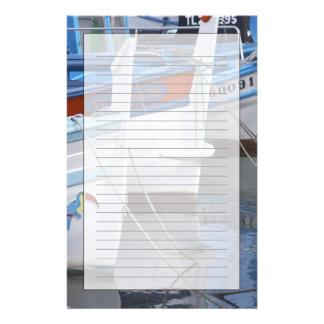 Papeterie Bateaux de pêche typiques de Provencal peints dans