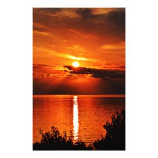 Papeterie Beau coucher du soleil