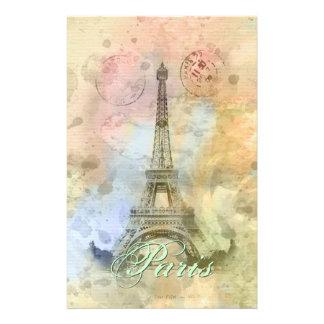 Papeterie Beau Tour Eiffel vintage girly à la mode France