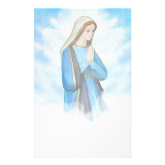 Papeterie bénie de Vierge Marie
