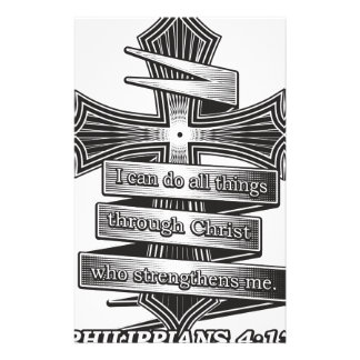 Papeterie Bible de chrétien de 4h13 de Philippiens d'édition
